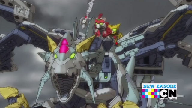 File:Bravenwolf and Lydendor riding on the Tenkai Dragon.png