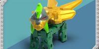 Dark Green Kindoh Quadrax (Series 1) (toy)