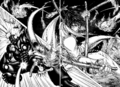 Akari attacking the Mole Cricket Terraformar.png