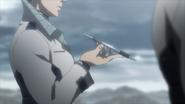 Keiji preparing to take his medicine