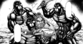 Terraformars attacking Sylvester without effect.png
