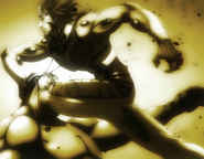 Marcos smashing a Terraformars face with his knee