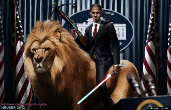 File:O-OBAMA RIDING A LION BY SHARPWRITERD5FTZE6-570.jpg