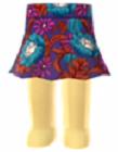 File:Vintage floral-print flared skirt.png