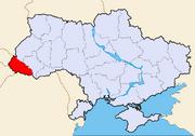 Map of Ukraine political simple Oblast Transkarpatien