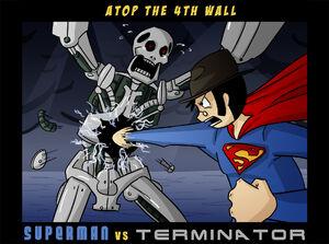 AT4W Superman VS Terminator by Masterthecreater