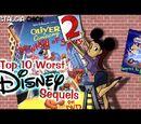 Top Ten Worst Disney Sequels