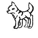 File:North Wolf Pixel Art Lineart.jpg