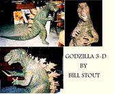 Godzilla 3 D model color by Gareku