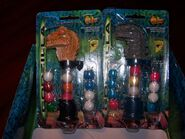 4 FLIX Gumball Dispensers GODZILLA, on card & in bag w DISPLAY, NIB, NOC 19981