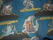 Vintage 1998 GODZILLA Twin Bed SET Sheet Fitted Pillowcase 90's Bedding1