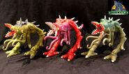 TRENDMASTERS Unreleased Animated Godzilla the Series C-Rex Prototypes x 3