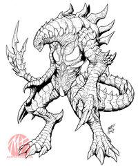 Kaiju combat preview nemesis by kaijusamurai-d5n032o