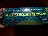 4 FLIX Gumball Dispensers GODZILLA, on card & in bag w DISPLAY, NIB, NOC 19982
