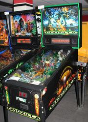 Godzilla pinball game