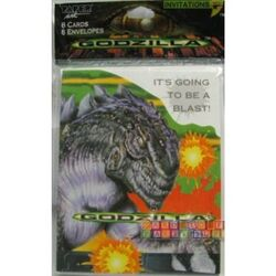 Godzilla Birthday Invitations, 8 Card Pack