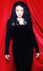 Sarah Brightman in black
