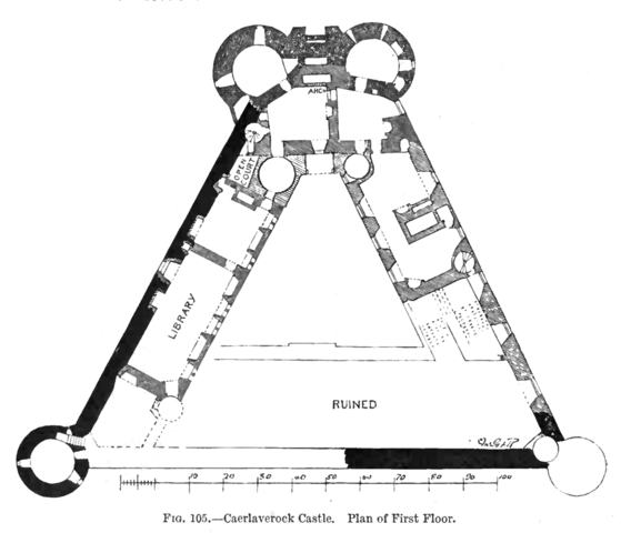 File:Caerlaverock Castle - Plan of First Floor.png