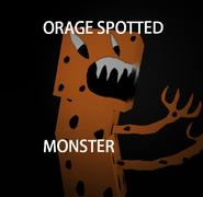 Orange spotted monster