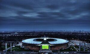 Olympiastadion berlin at night