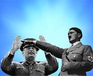 Hitler and Stalin Communist Bros