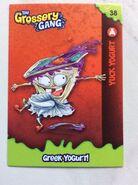 Yuck yogurt collector card