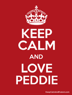 Keep calm and love peddie