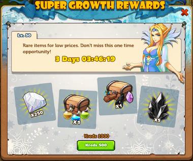 Growth Gift lvl 50 Kon