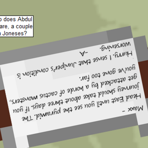 Abduls name mentioned in comic #514