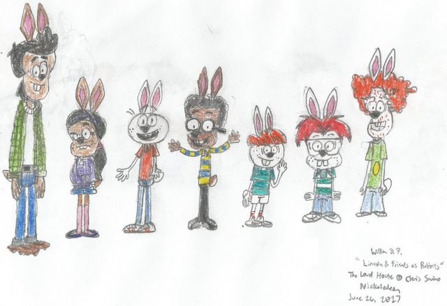 File:Bobby, Ronnie Anne, Lincoln, Clyde, Liam, Zach, and Rusty as Rabbits.png