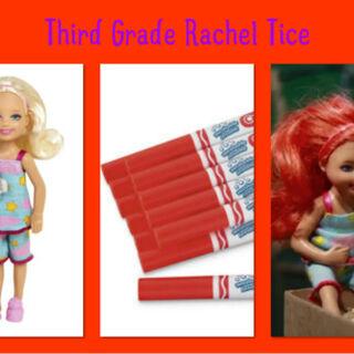 Chelsea + Red Marker = Little Rachel Tice