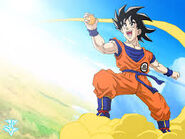 Goku flying with nimbus
