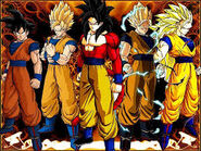 All of goku's sayjin forms