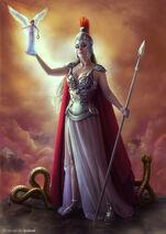 Athena Minerva Greek Goddess Art 20 by green cat