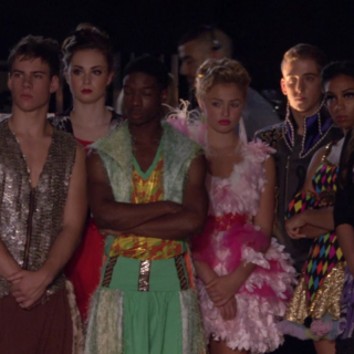Phoebe (<i>hidden</i>) watches <a href=