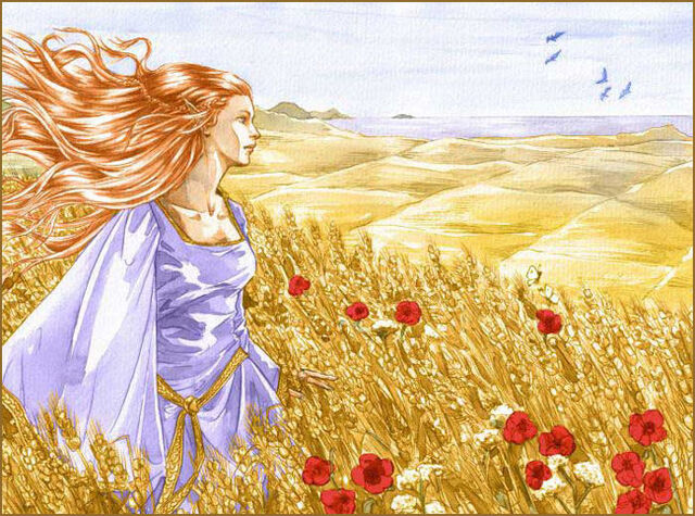File:The picture shows a Vanyarin elf in a field of gold.jpg