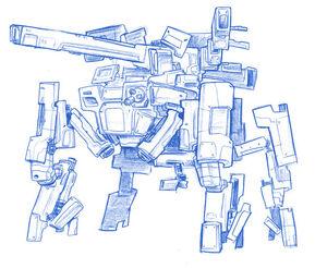 Quadruped tank sketch by anchan