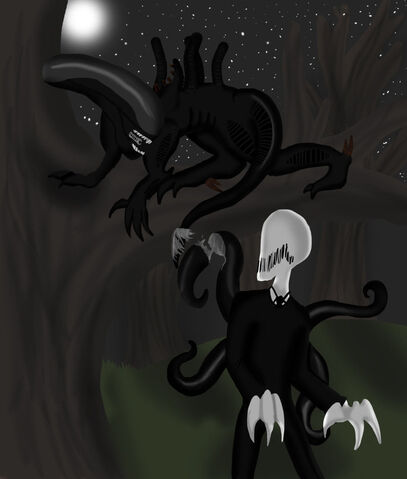 File:Alien Vs Slendy.jpg