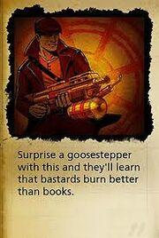 Flammenwerfer Sabotuer