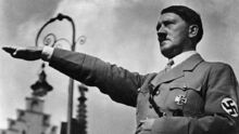 Adolf Hitler, leader of the Nazi party.