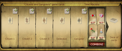 Collection 424 Citizens Gangsters game cards cropped