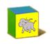 C570 Toy blocks i05 Elephant block
