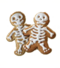 C332 Preparations for the party i05 Skeleton gingerbread cookies