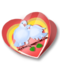 C207 Valentines Card i02 Dove