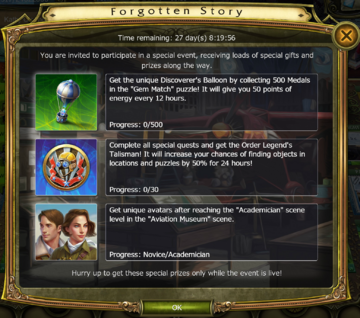 Forgotten Story Update