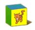 C570 Toy blocks i04 Cat block
