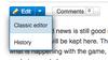 Classic editor select