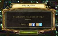 The Legend Returns Avatar Complete Notification
