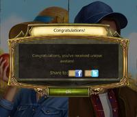 Harvest festival Avatar Complete notification