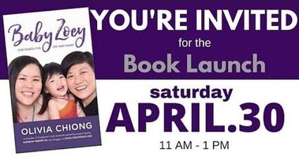 """""""Baby Zoey Our Search for Life & Family"""" book launch by Olivia Chiong"""